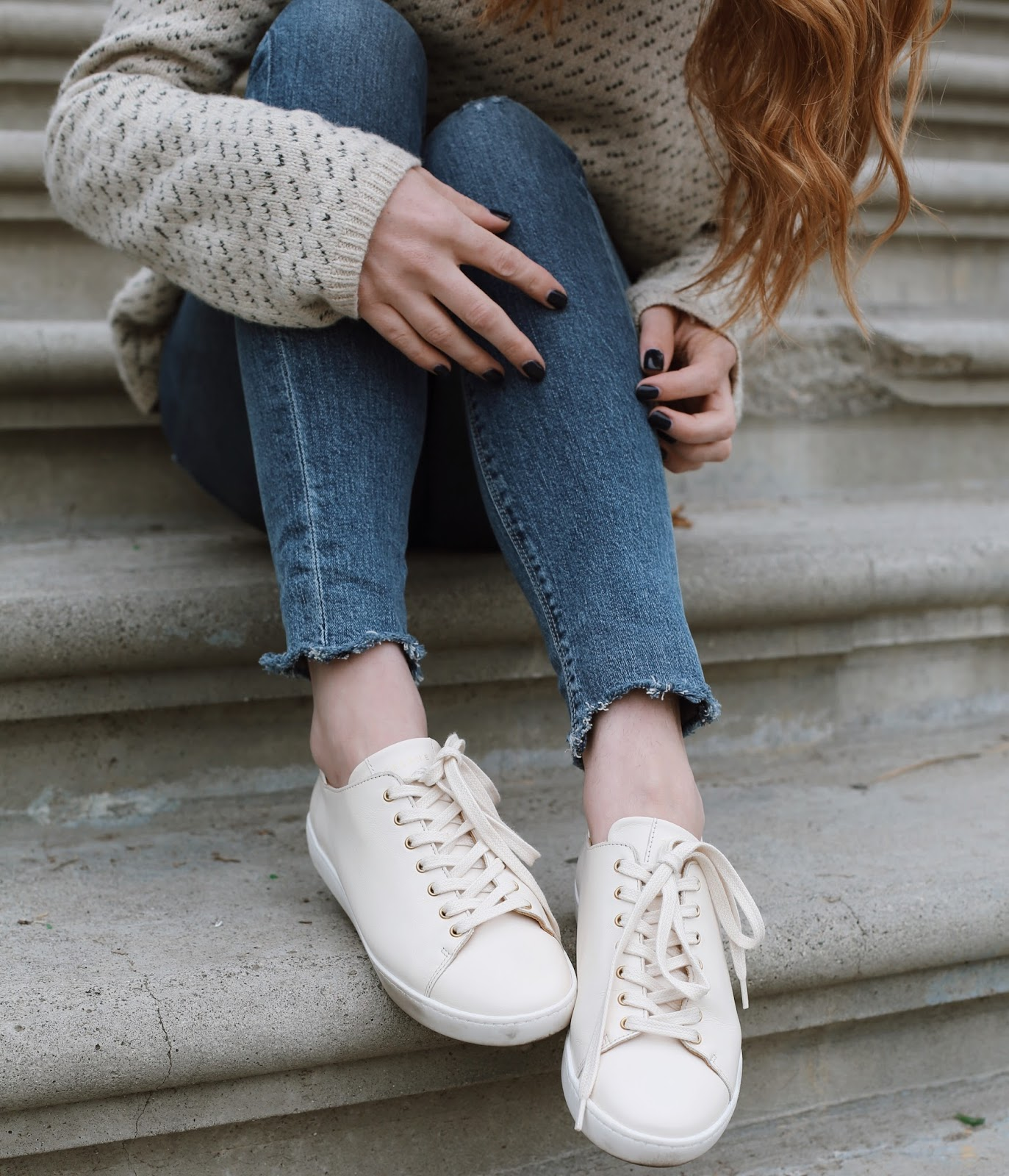 c6bfc0b44c8266 Enter the Sezane Jack Sneaker – *drool* If you've been following me for  over a year, you know that I got my first pair (in white) right before the  holidays ...